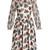 Floral-print crepon dress