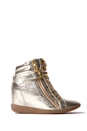 shoes,sneakers,wedge sneakers,shiny sneakers,shopakira,shiny shoes
