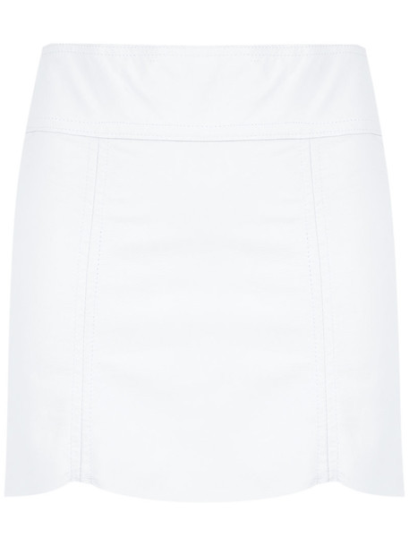 Andrea Bogosian skirt short skirt short women leather white