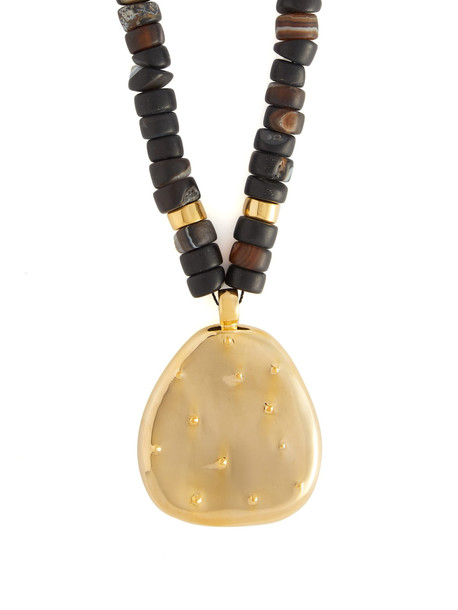 JOELLE KHARRAT Cactus gold-plated necklace in brown