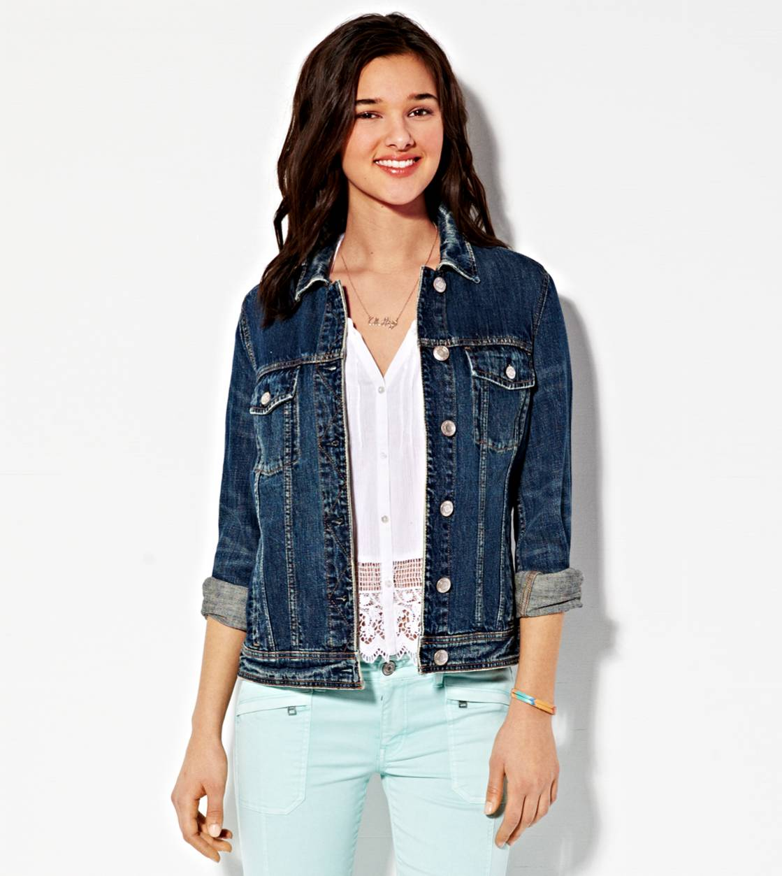 AE Boyfriend Jean Jacket, Authentic Dark Indigo | American Eagle Outfitters