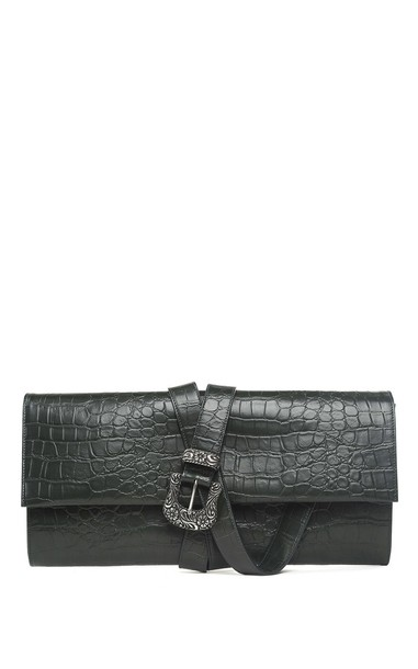 Mm6 Maison Margiela leather clutch clutch leather crocodile bag