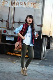 daily disguise,shoes,t-shirt,shirt,jacket,pants,bag