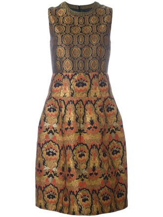 dress women jacquard silk