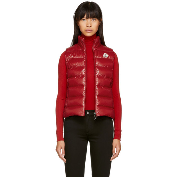 Moncler Red Ghany Down Vest