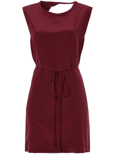 Kacey Devlin dress women silk red