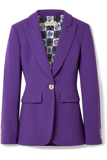 Emilio Pucci blazer wool purple jacket