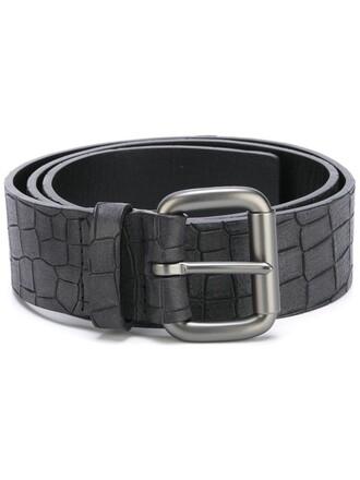 women belt leather black crocodile