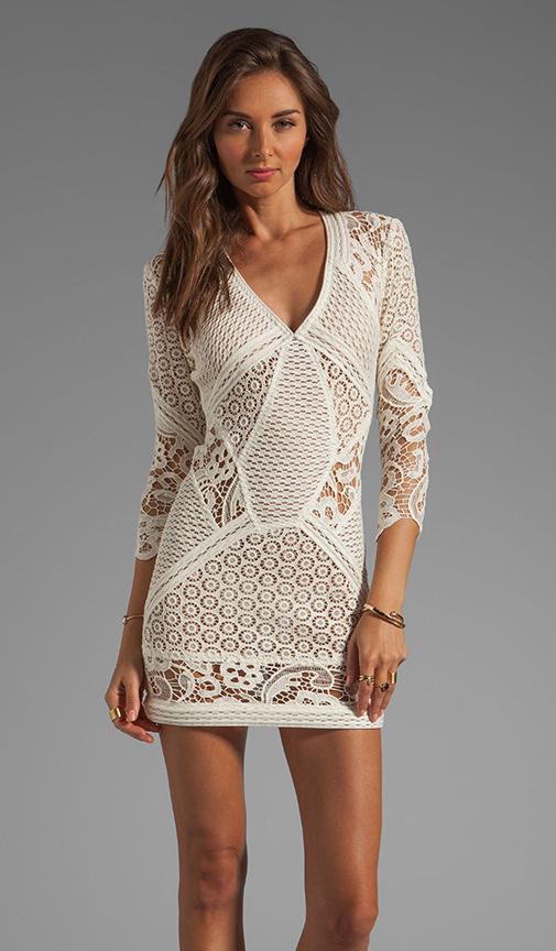 Iro rovea lace dress in ecru from revolveclothing.com