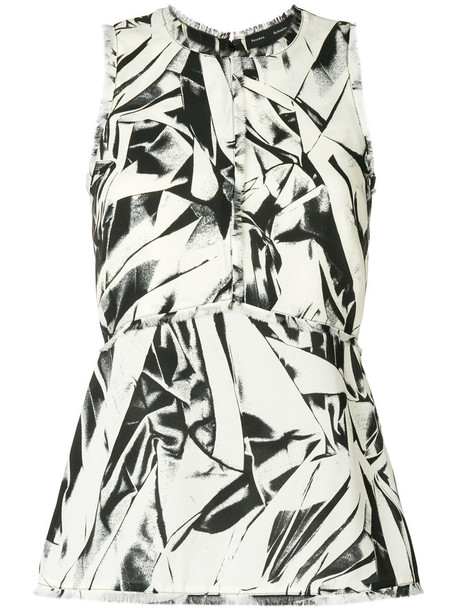 Proenza Schouler top sleeveless top sleeveless embroidered women white silk