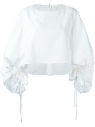 blouse cropped white top