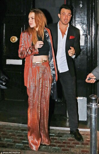 pants lindsay lohan jacket suit blazer