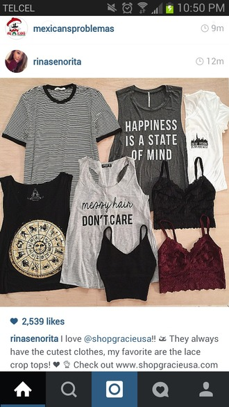 tank top cute swag bohemian nice cool black gray grey white basic dope pretty messy