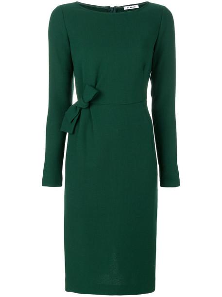 P.A.R.O.S.H. dress bow women spandex wool green