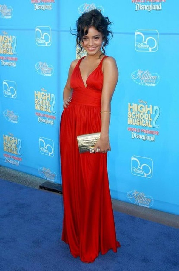 dress red dress long red dress red long dress high school musical vanessa hudgens