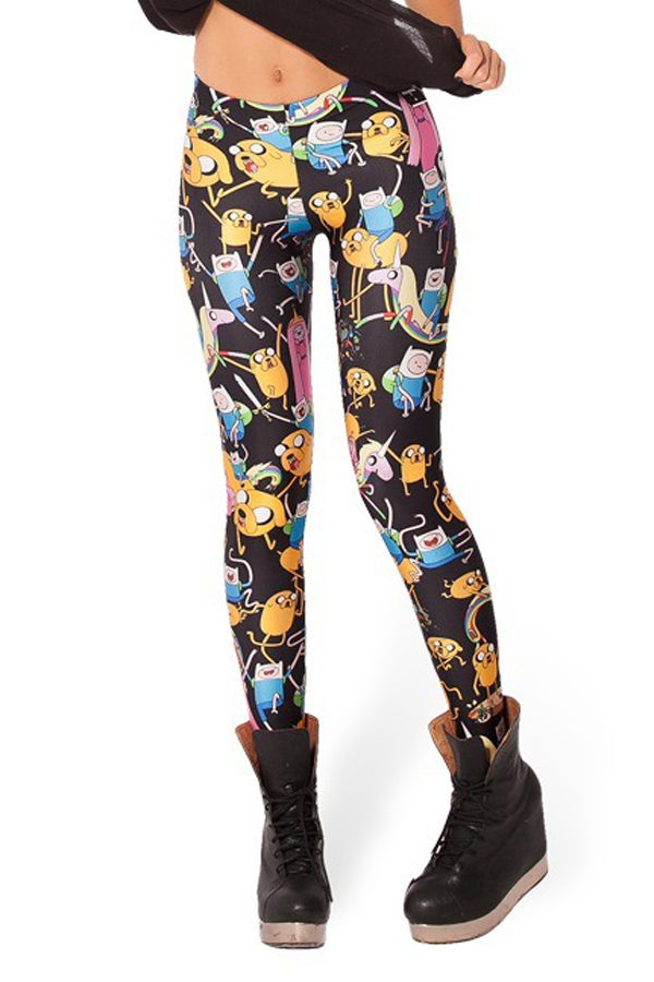 Adventure Time Comic Print Leggings [FBBI00164] - PersunMall.com