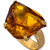 Charles Albert Gold and Amber Prong Set Ring - Max & Chloe