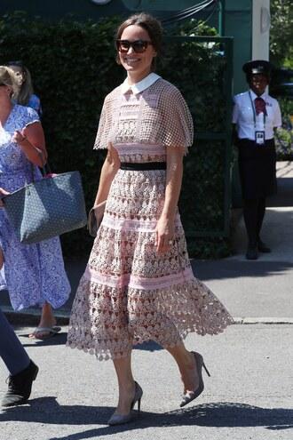 dress midi dress pumps pippa middleton lace dress lace