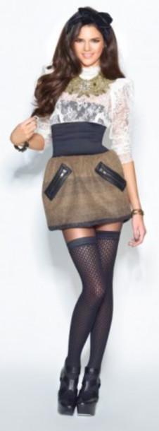 skirt high waist skirts black zip