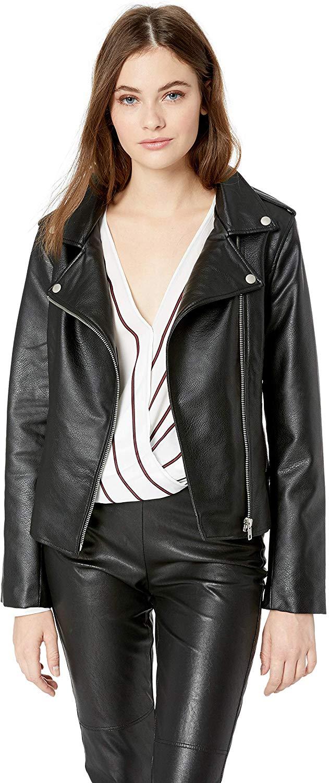 BB Dakota Women's Just Ride Textured Vegan Leather Moto Jacket at Amazon Women's Coats Shop