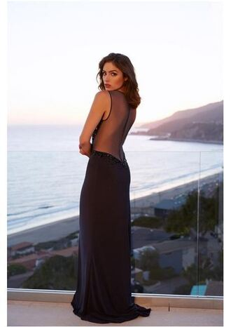 dress gown prom dress long prom dress backless dress sheer olivia culpo slit dress