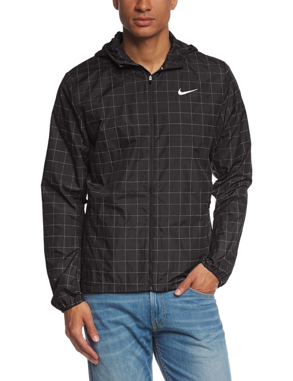 Nike jacket flash - Amazon Com Nike Checkered Flash Men S Running Jacket Black Silver S Sports Outdoors
