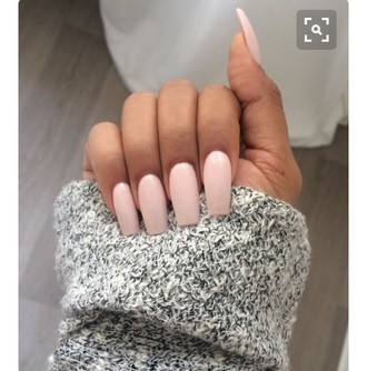 nail polish light nail polish pretty nails light pink cute