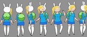 top,adventure time,costume,socks,skirt,backpack,fionna