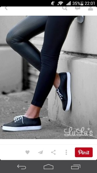 shoes black sneakers white sporty