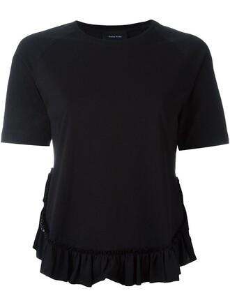 t-shirt shirt ruffle black top