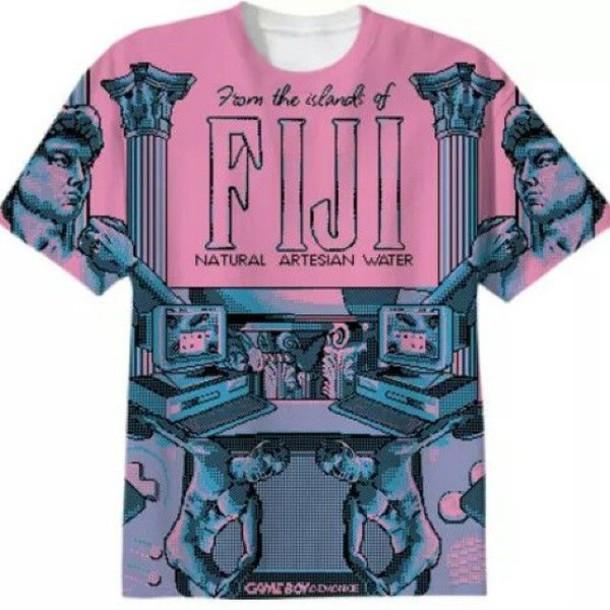 Shirt top vaporwave tumblr t shirt aesthetic for Get company shirts made