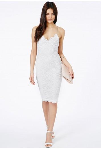 Zoraide lace strappy midi dress