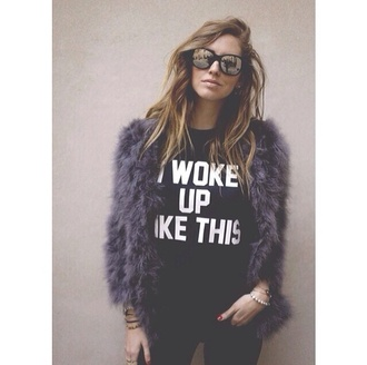 shirt i woke up like this shirt i woke up like this t-shirt coat