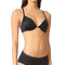 Natori demure unlined front close underwire bra - black/cosmetic