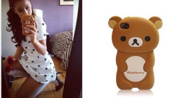 adorable phone case phone case bear brown bear ariana grande ariana grande phone case ariana grande phone ariana grande brown phone case ariana grande brown bear phone case super cute love it ariana grande