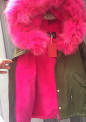 coat,fur,faux,racoon,pink,winter outfits,cozy,jacket