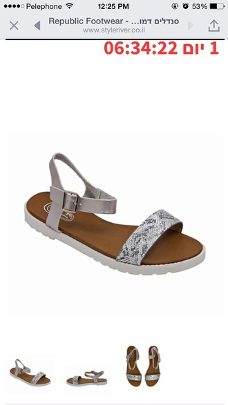 shoes flat sandals snake summer women beautiful style