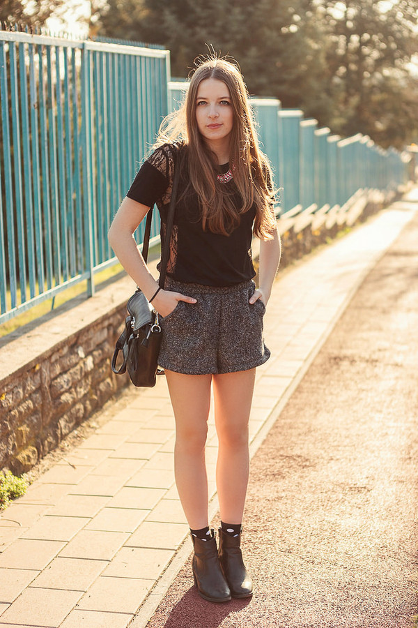 iemmafashion t-shirt shorts shoes jewels bag