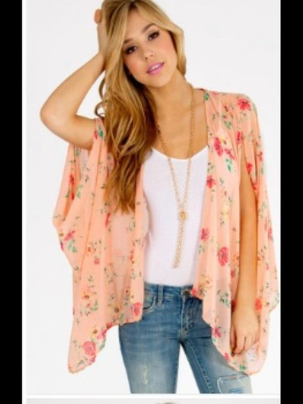 tunic coat floral pretty