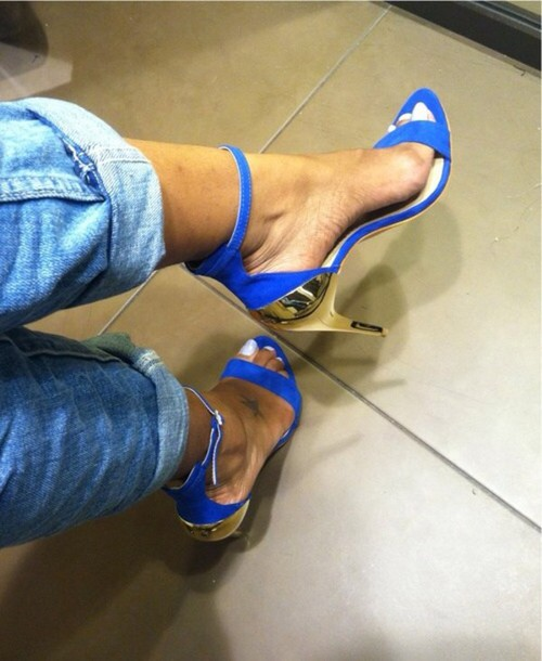 shoes pumps sexy blue summer
