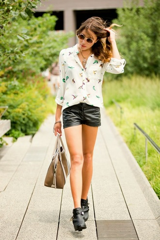the marcy stop sunglasses bag jewels shoes birds blouse cute round sunglasses shirt shorts