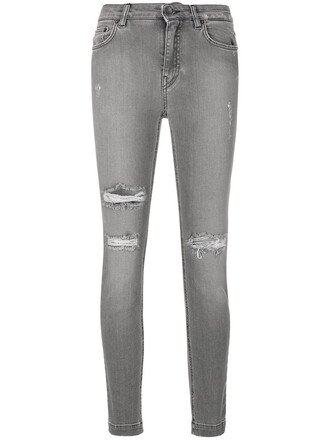 jeans women spandex cotton grey