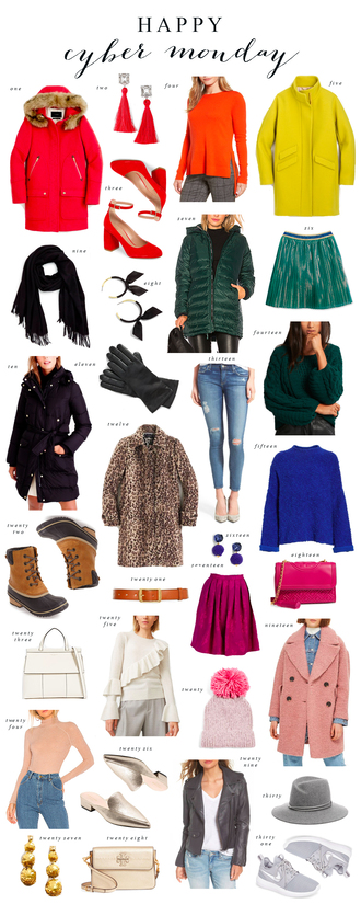 ivory lane blogger coat jewels shoes sweater skirt scarf gloves jeans bag hat belt top jacket winter outfits fall outfits winter coat boots beanie duck boots green sweater red sweater blue sweater