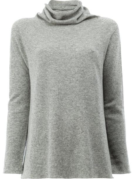 Lamberto Losani jumper cashmere jumper women grey sweater