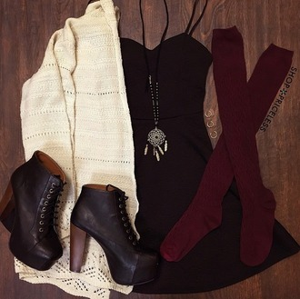 shoes socks necklace cardigan dress burgundy black dreamcatcher pumps tie up shoes white