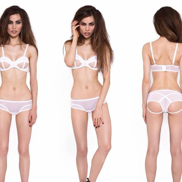 Underwear Lingerie Clothes Sexy Fashion White Bra