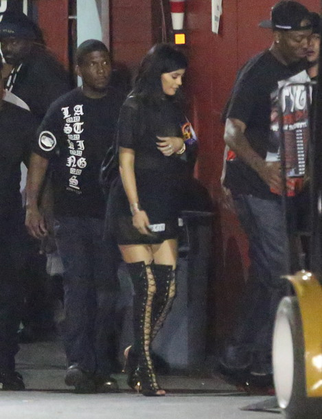 dress black sheer kylie jenner shoes