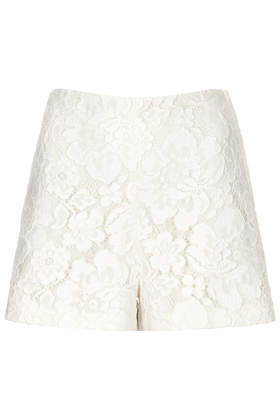 Corded lace shorts