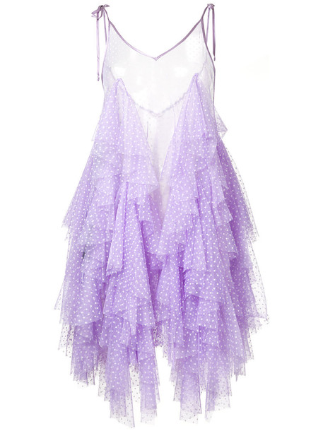 dress ruffle dress ruffle women fantasy purple pink