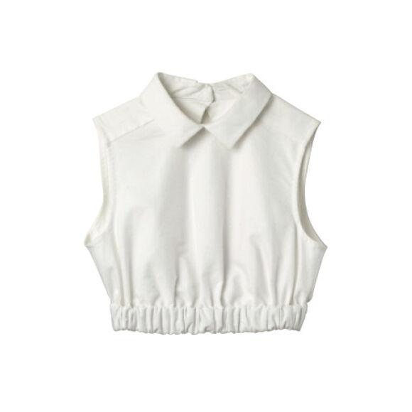 elastic collar top tank top hipster indie white crop crop tops blouse lana del rey lana del rey dark paradise top collar